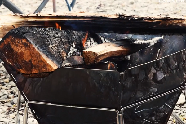 大鳩園キャンプ場で焚火