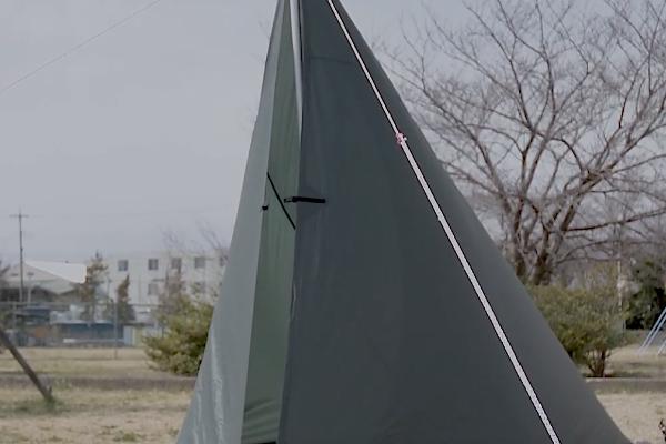 DDタープ4x4をテントのように張る