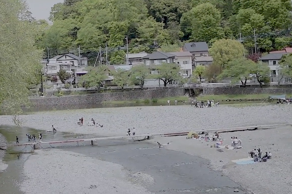 キャンプの聖地である飯能河原