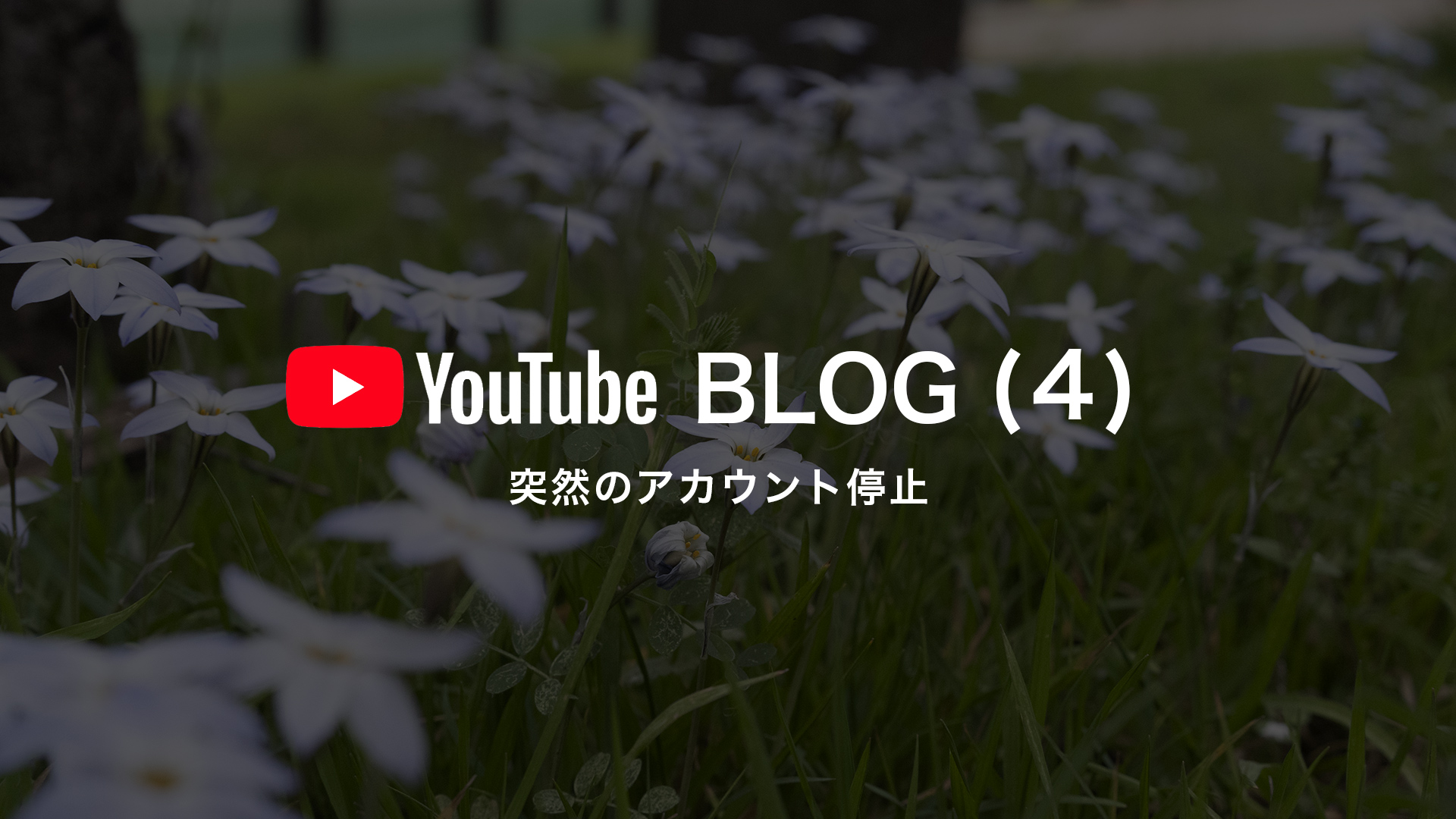 YouTubeアカウント停止