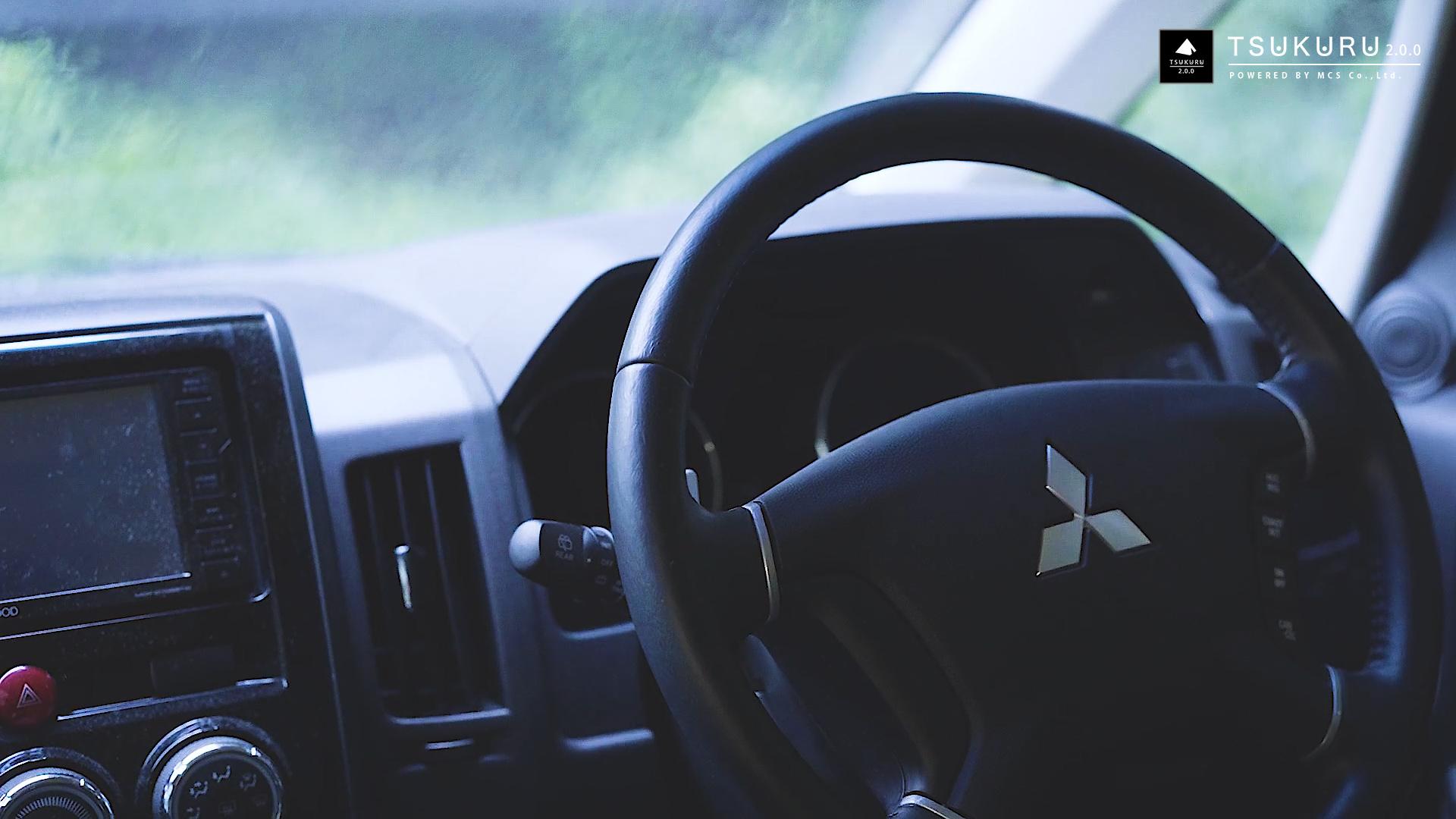 デリカD5の車内で過ごす