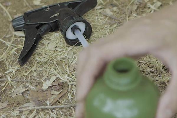 木酢液でスズメバチ対策